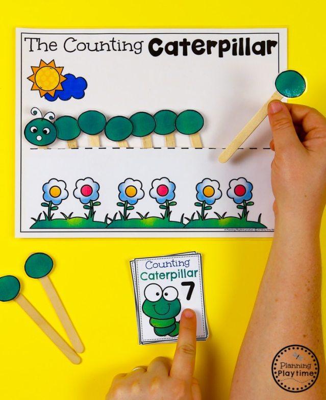 Caterpillar Counting Pocket Activity