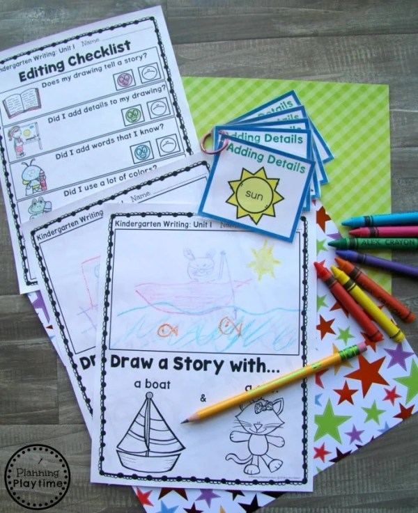 Kindergarten Writing Worksheets - Writing Prompts and Writing Centers for Kindergarten