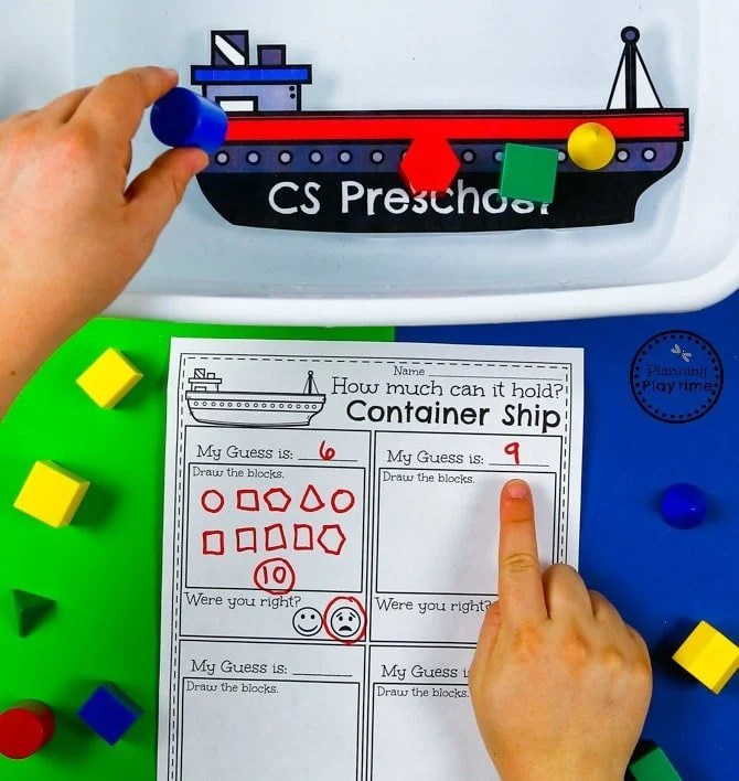 Preschool STEM Activity - Transportation Unit #preschool #transportationunit #planningplaytime #preschoolstem