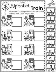 Preschool Transportation Theme Worksheets - Letter Matching 1#preschool #preschoolworksheets #planningplaytime #lettermatching