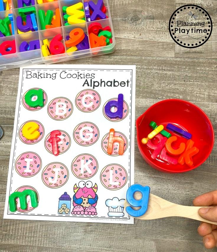 Alphabet Game for Preschool - Alphabet cookies