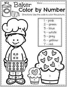 Preschool Coloring Pages - Cupcakes Col
