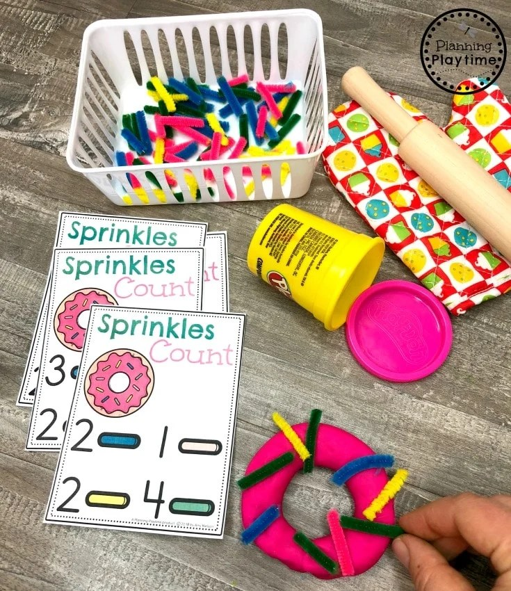 Preschool Dramatic Play Bakery and Math Centers