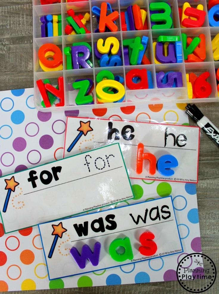 Sight Words for Kindergarten - Sight Words Games #sightwords #sightwordsworksheets #literacyworksheets #kindergartenworksheets #planningplaytime