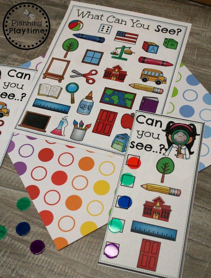 I Spy - 5 Senses Sense of Sight Game