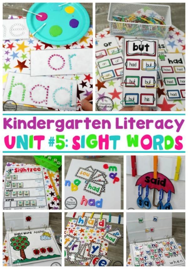 Sight Words Worksheets and Games - Kindergarten Sight Words