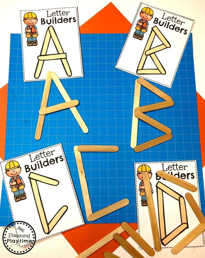 Preschool Letters Activities - Construction Theme #letteractivities #constructiontheme #preschool #preschoolworksheets #planningplaytime