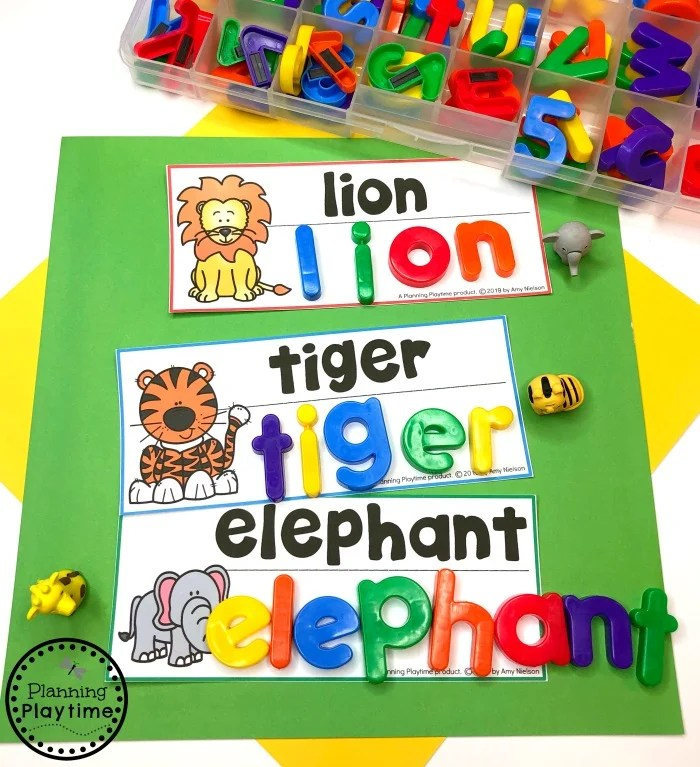 Preschool Zoo Theme - Writing Center #zootheme #preschool #preschoolworksheets #planningplaytime