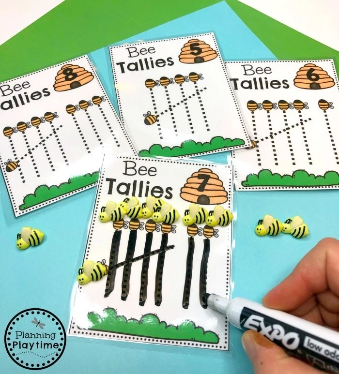 Spring Preschool Math Centers - Counting and Tallies