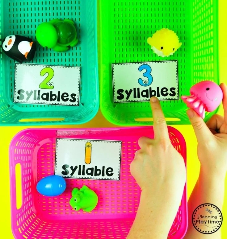 Syllables Sorting with Real Life Items