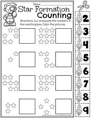 Number Worksheets for preschool - Preschool Counting Worksheets for a Space Theme #spacetheme #preschoolworksheets #preschoolactivities #preschoolprintables #planningplaytime #numberworksheets