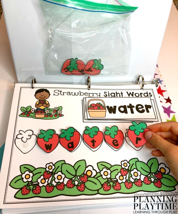 Sight Words Activities for Kindergarten - Interactive Binder #sightwords #kindergartenworksheets #kindergartensightwords #planningplaytime