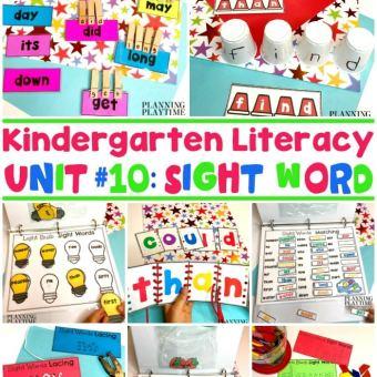 Kindergarten Sight Words Activities and Printables #sightwords #kindergartenworksheets #kindergartensightwords #planningplaytime