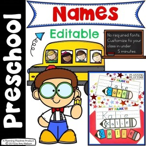 Name Tracing Worksheets and Activities - Editable #preschoolworksheets #nameworksheets #preschoolprintables #nametracing #backtoschool #planningplaytime