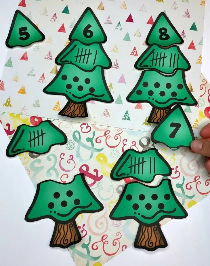 Counting Puzzles for Preschool Camping Theme #preschoolactivities #preschoolprintables #campingtheme #planningplaytime