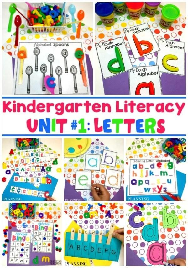 Alphabet Worksheets for Preschool and kindergarten. Fun hands-on games. #preschoolworksheets #preschoolprintables #kindergartenworksheets #letterrecognition #alphabetworksheets #planningplaytime
