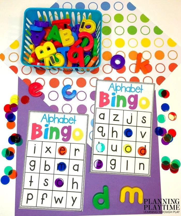 Alphabet Worksheets - Alphabet Bingo Game #lettertracing #letterworksheets #alphabetworksheets #preschoolworksheets #preschoolactivities #alphabetactivities #planningplaytime