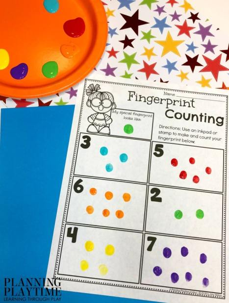 counting fingerprint stamps in boxes worksheet