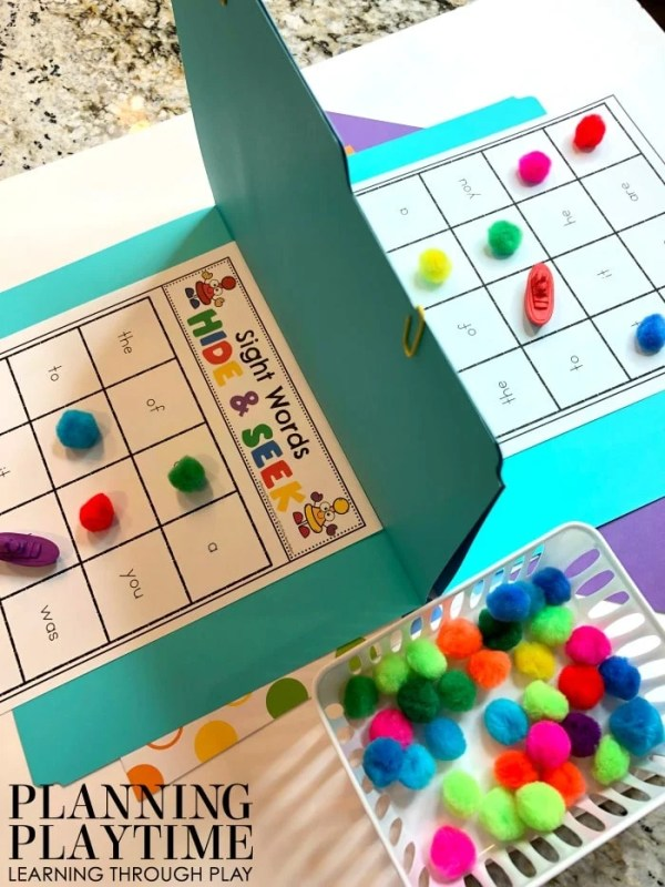 Sight Words Game for Kids - Hide and Seek Boats in Sight Words