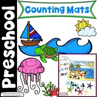Ocean Counting Mats Cover