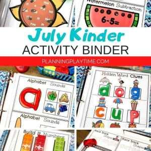 Kindergarten Activities - Kindergarten Skills Binder August