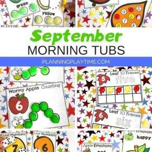 Morning Tubs - Preschool Activities September