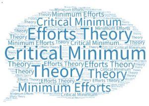 Critical minimum effort Theory