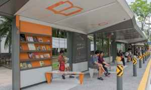 World's coolest Bus Stop: books, rooftop garden & swing | Singapore