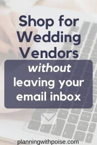 How to email wedding vendors: My three-part template