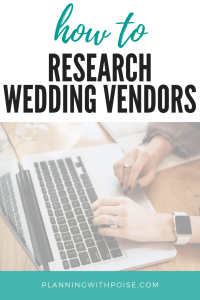How to Research Wedding Vendors