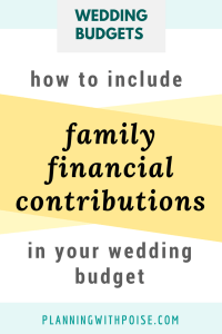 Family Paying for Wedding Expenses?