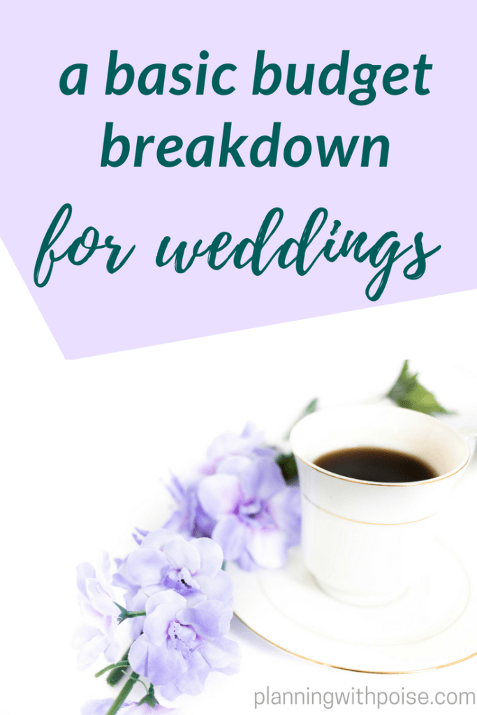 basic wedding budget breakdown planning with poise