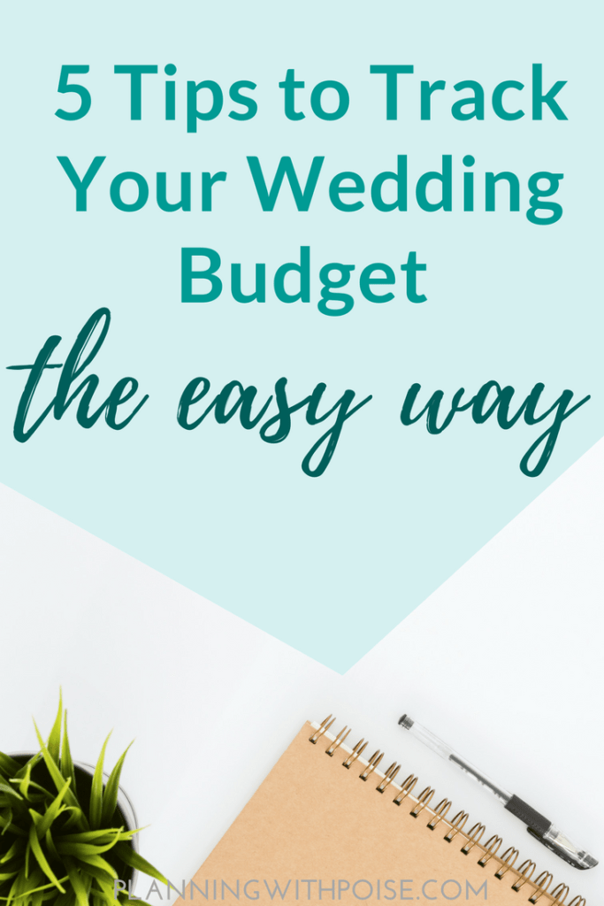 track your wedding expenses planning with poise