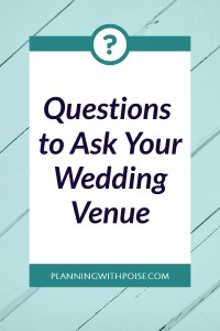 Questions to Ask Wedding Venues