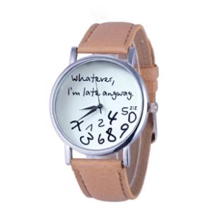 Dameshorloge - Whatever I am Late Anyway - beige
