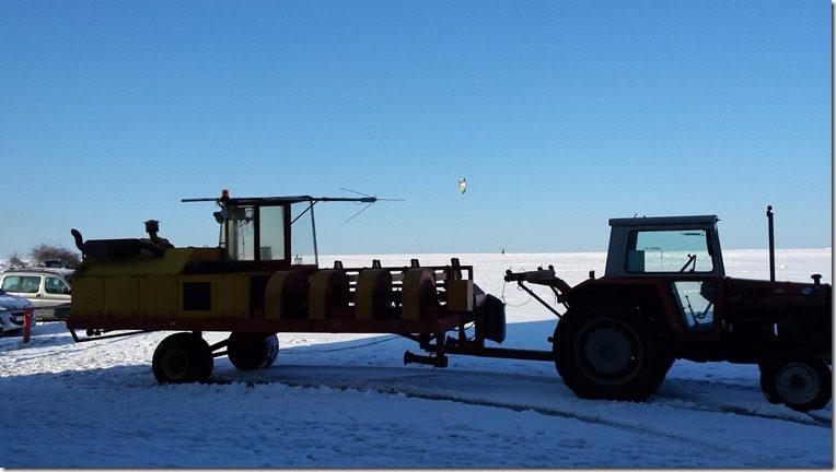 Vol à voile planeur - Treuil tracteur attelage