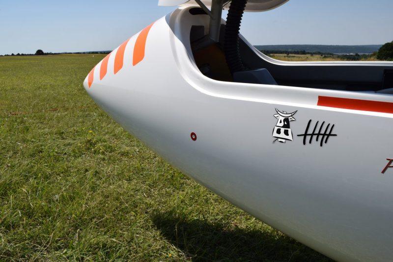 Sticker Vol à voile. Vache. Glider segelflugzeug
