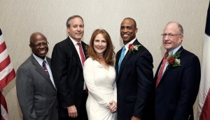 Fred Moses, former CC GOP Chair; Sen. Van Taylor; Pres. D'rinda Randall; Rep. Scott Turner; Sen. Bob Hall