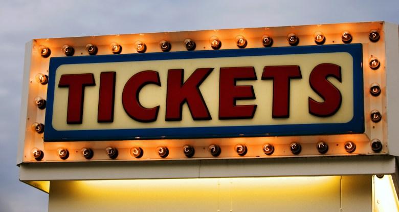 tickets sign theatre movie