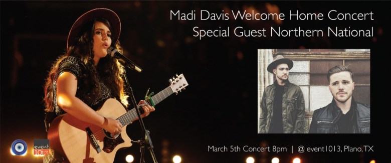 Madi Davis, The Voice, Northern National, Downtown Plano