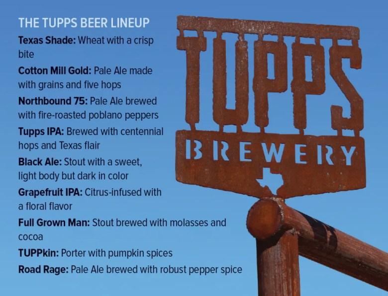 TUPPS Brewery mckinney beer list