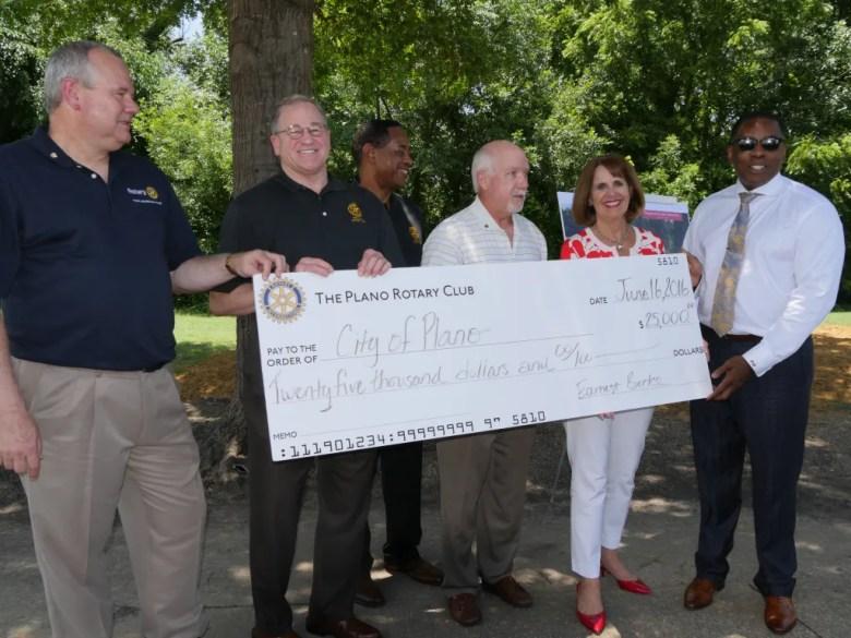 Plano Rotary Club donates for Jack Carter Pool
