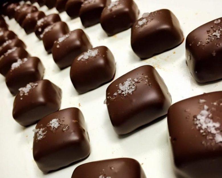 Dark chocolate sea salted caramels from Goodies Texas McKinney