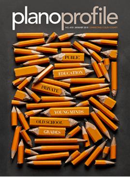 Plano Profile magazine, January 2018, education, magazine cover, pencils