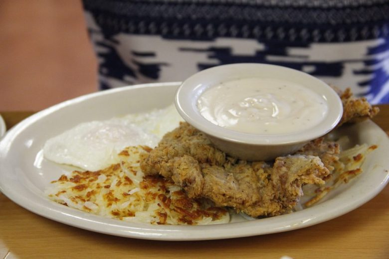 Chicken fried steak, RKII Cafe, Cleburne Texas
