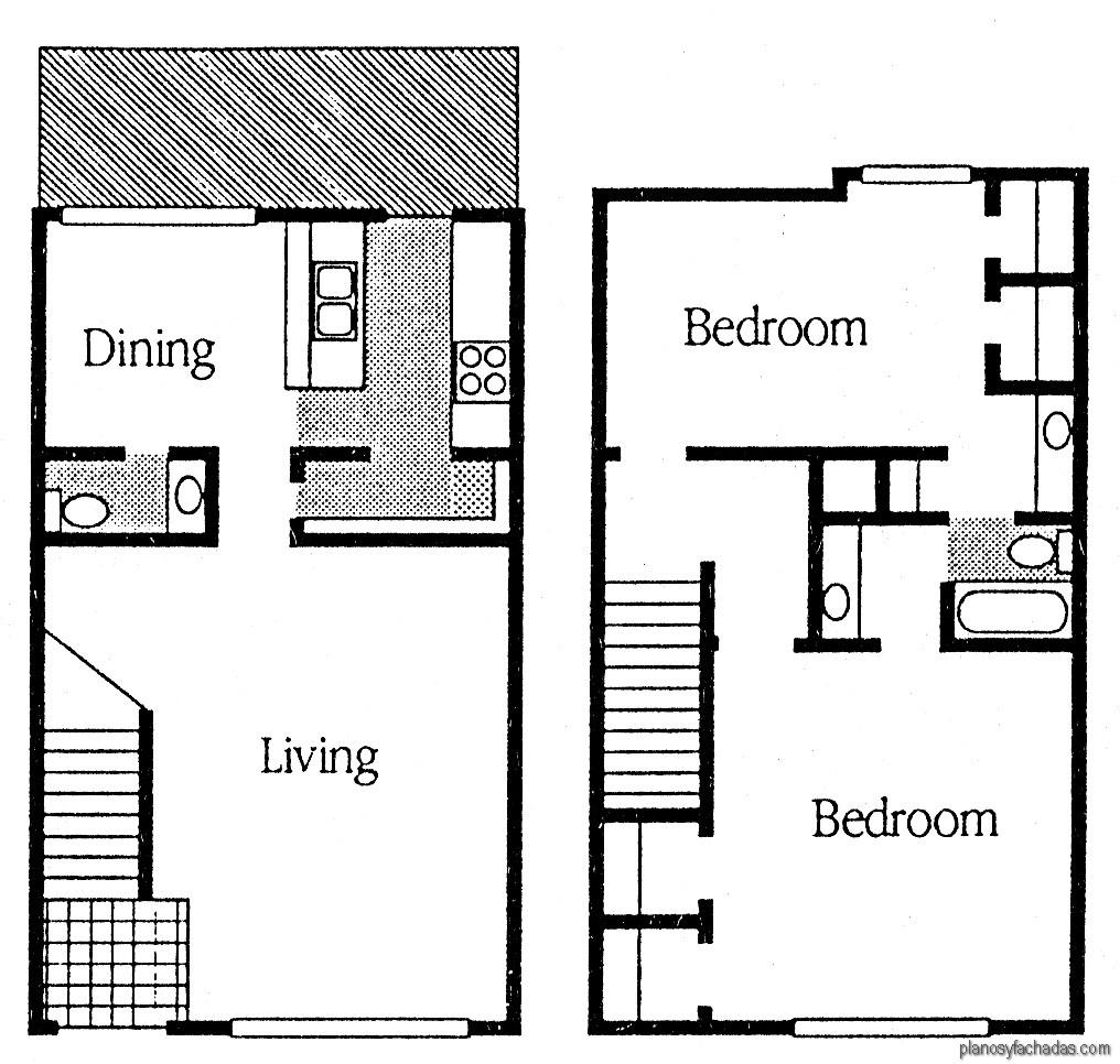 15 planos de casas peque as de dos pisos planos y for Casas pequenas de dos pisos