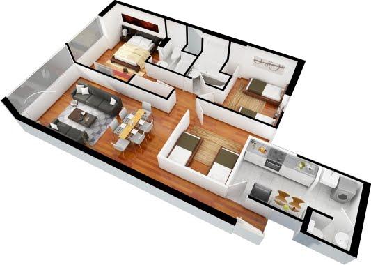planos de casas 3 dormitorios8