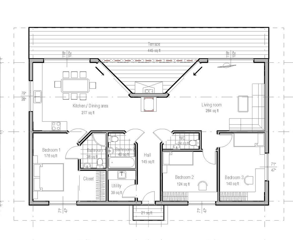 15 planos de casas modernas gratis planos y fachadas for Planos arquitectonicos de casas modernas