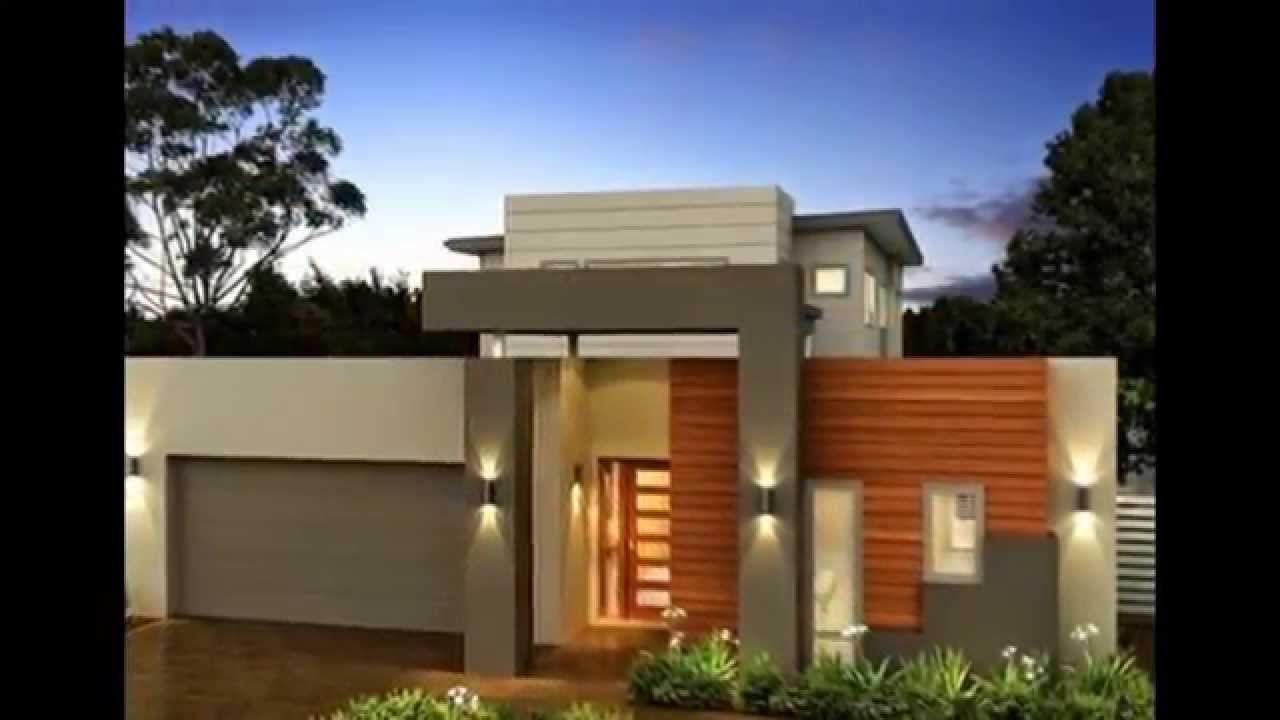 20 frentes de casas modernas planos y fachadas todo for Viviendas modernas de una planta