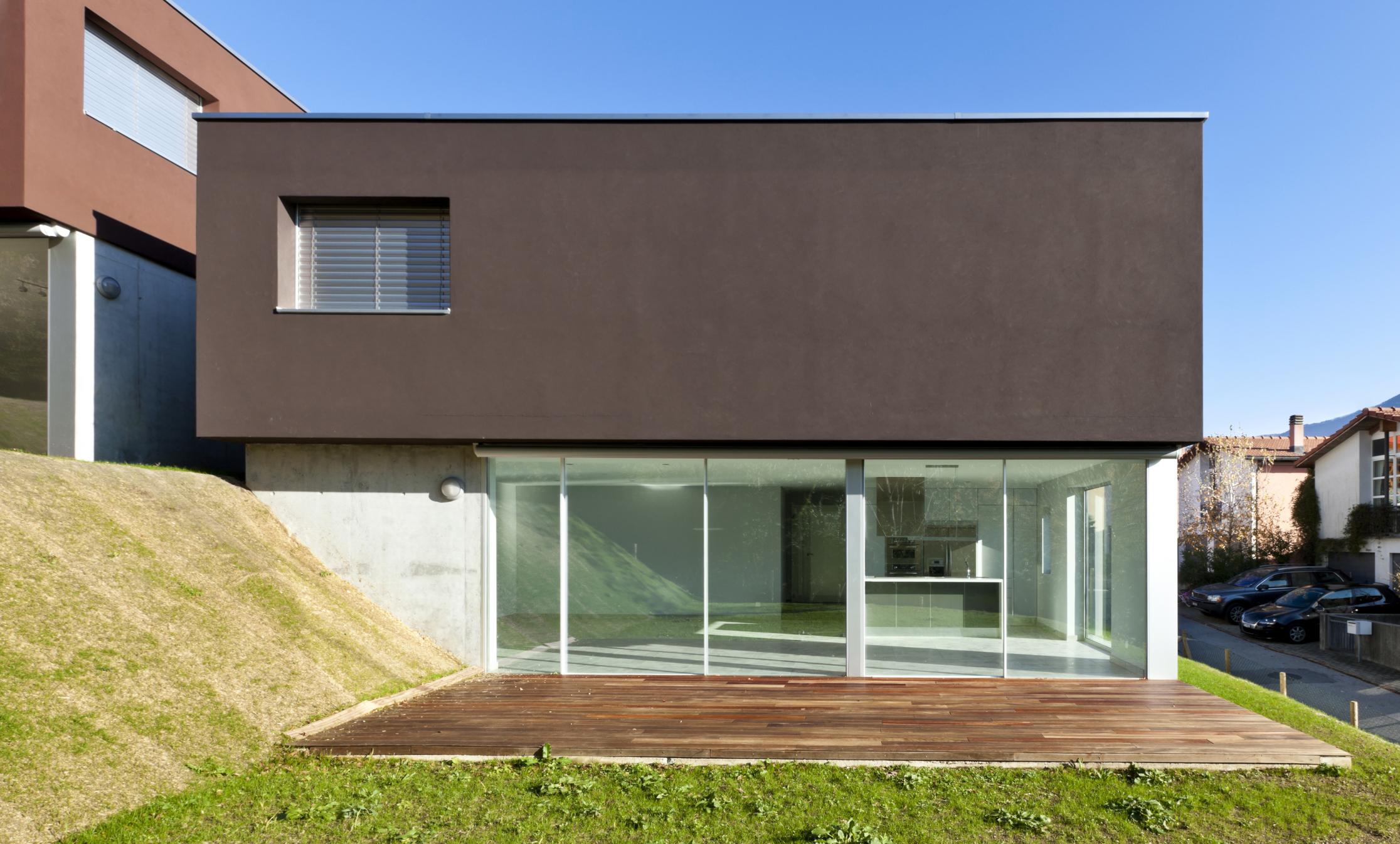 20 frentes de casas modernas planos y fachadas todo for Frente casa moderna